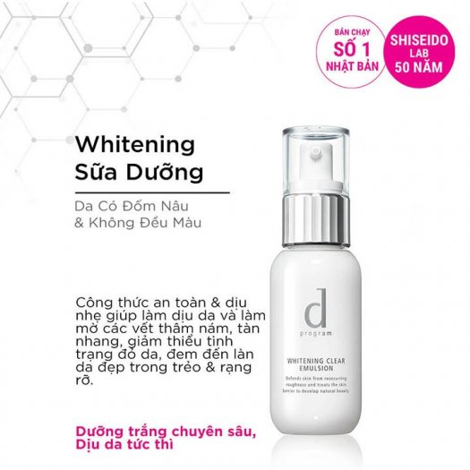 Sữa dưỡng D Program trắng da Whitening Clear Emulsion 100ml4