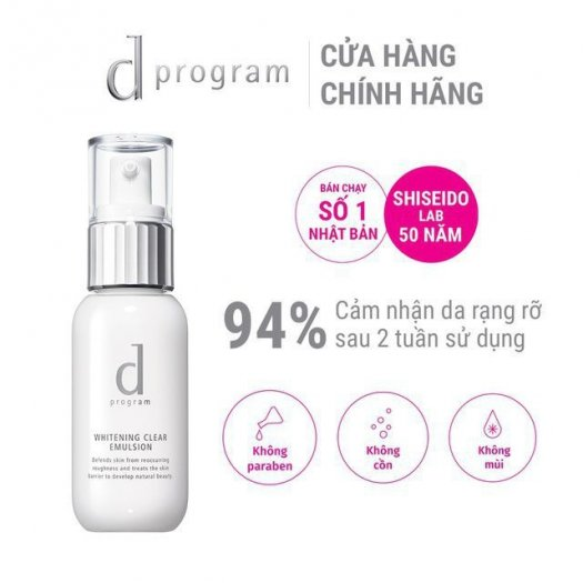 Sữa dưỡng D Program trắng da Whitening Clear Emulsion 100ml1