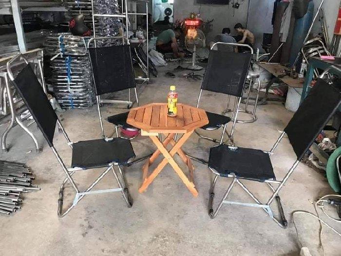 Bàn ghế cafe xếp lưới vỉa hè giá rẻ0