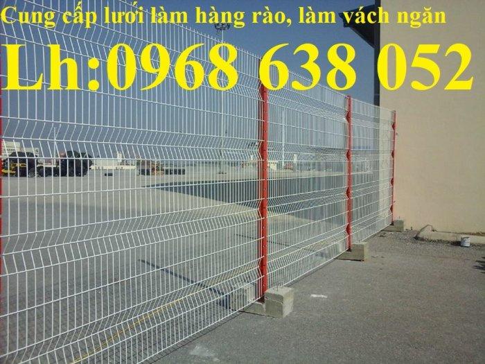 Lưới hàng rào ngăn kho nhà máy, nhà xưởng, hàng rào bảo vệ vỉa hè bền đẹp chất lượng12