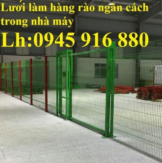Lưới hàng rào ngăn kho nhà máy, nhà xưởng, hàng rào bảo vệ vỉa hè bền đẹp chất lượng11