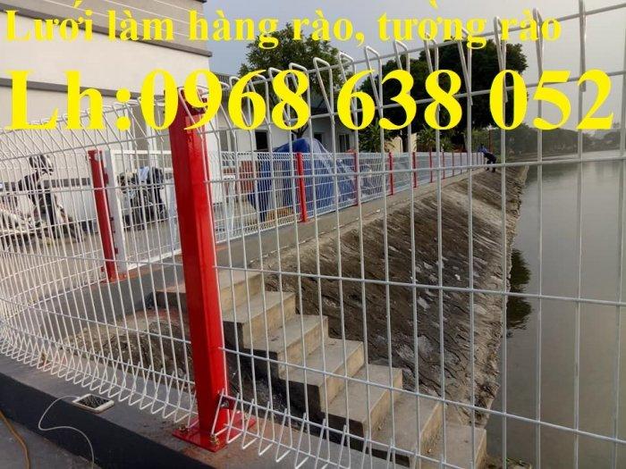 Lưới hàng rào ngăn kho nhà máy, nhà xưởng, hàng rào bảo vệ vỉa hè bền đẹp chất lượng6