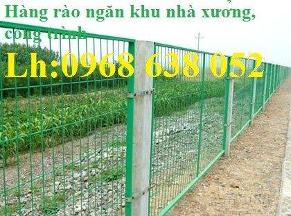 Lưới hàng rào ngăn kho nhà máy, nhà xưởng, hàng rào bảo vệ vỉa hè bền đẹp chất lượng1
