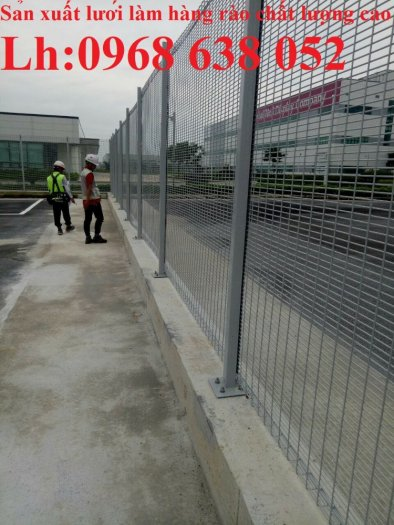 Lưới hàng rào ngăn kho nhà máy, nhà xưởng, hàng rào bảo vệ vỉa hè bền đẹp chất lượng0