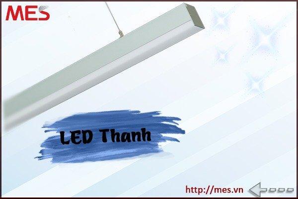 Đèn Led thanh treo 3 mặt chiếu 24W 1m2 chất lượng cao0