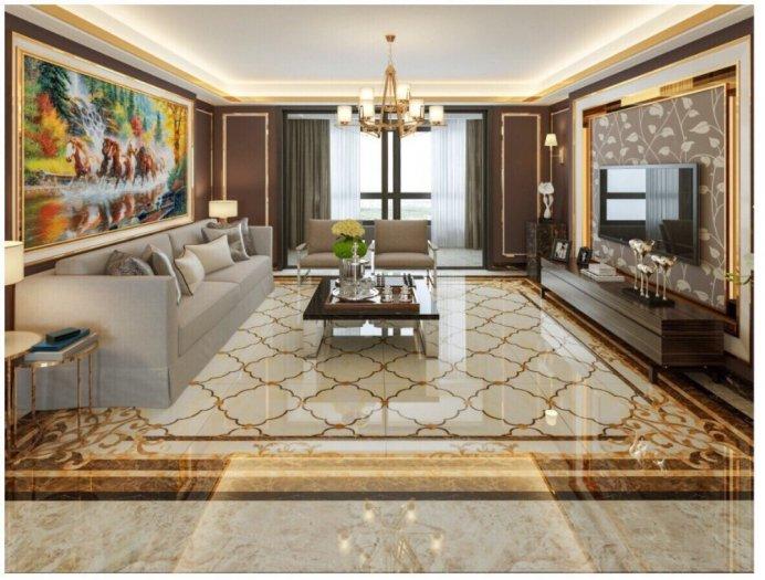 Gạch thảm sàn phòng khách khổ lớn HP1904110