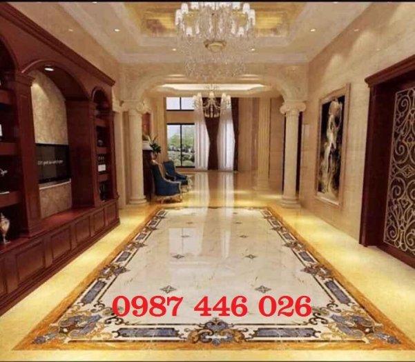 Gạch thảm sàn phòng khách khổ lớn HP190419