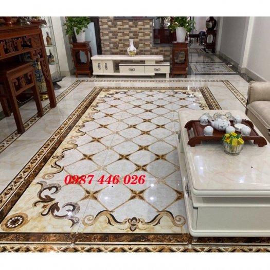 Gạch thảm sàn phòng khách khổ lớn HP190416