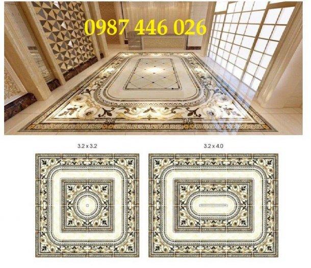 Gạch thảm sàn phòng khách khổ lớn HP190414