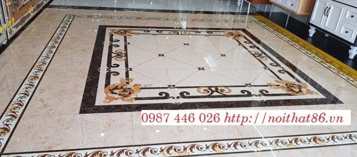Gạch thảm sàn phòng khách khổ lớn HP190413