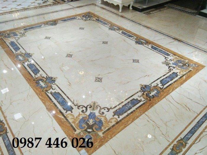 Gạch thảm sàn phòng khách khổ lớn HP190412