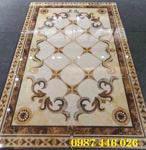 Gạch thảm sàn phòng khách khổ lớn HP190411