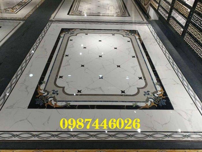 Gạch thảm sàn phòng khách khổ lớn HP190410