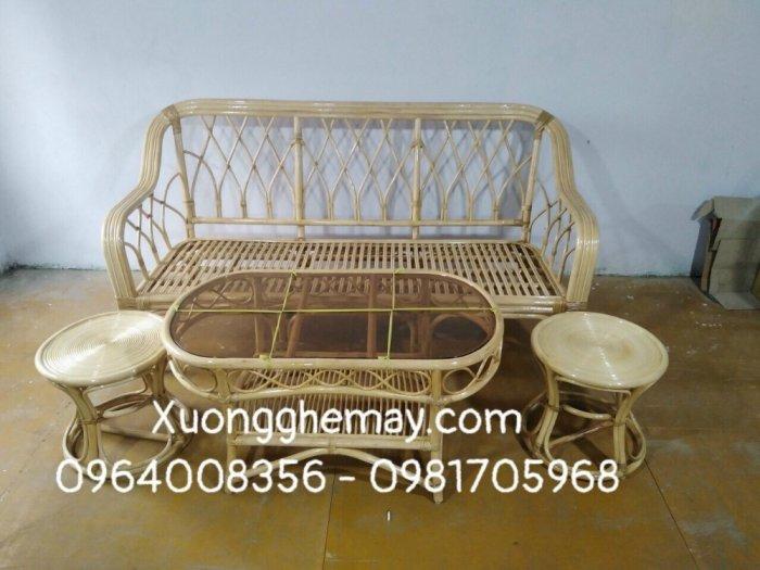Bộ bàn ghế sofa mây tre, sofa salon mây tre đan14