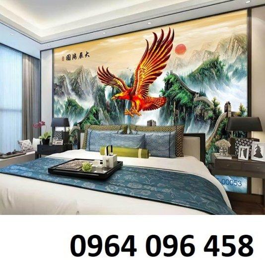 Tranh 3d phong thủy chim đại bàng - HQ126