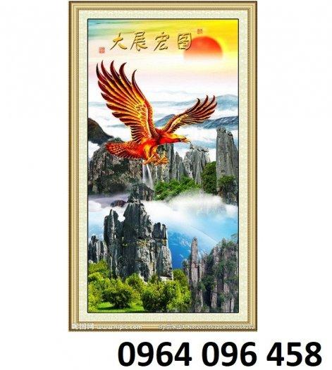 Tranh 3d phong thủy chim đại bàng - HQ122