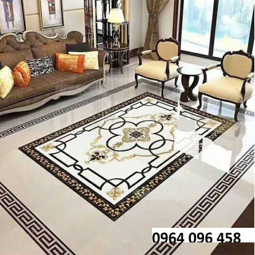 Gạch thảm 3d cao cấp lát phòng khách - KC233