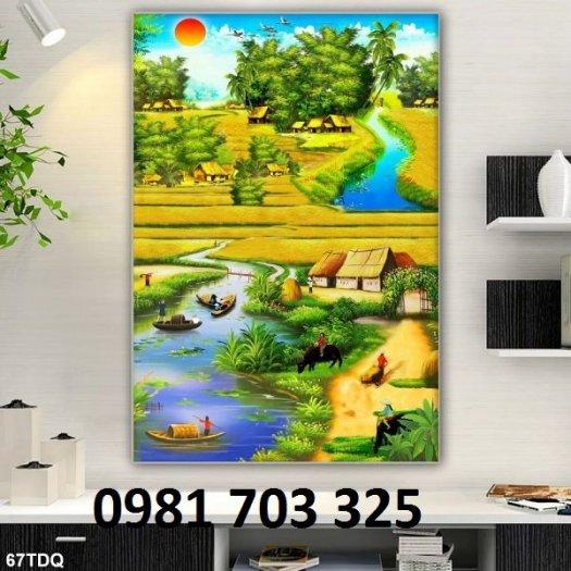 Tranh gạch phong cảnh, tranh 3D đồng quê6