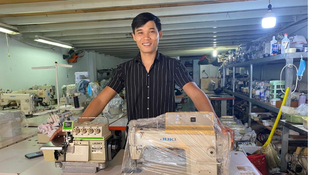 Cần bán máy may 1 kim điện tử Juki nội địa nhật