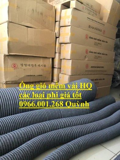 Phân phối ống gió mềm vải Hàn Quốc , Ống thông gió chịu nhiệt phi 100,phi 200,phi 3006