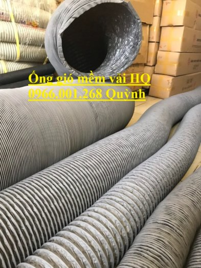 Phân phối ống gió mềm vải Hàn Quốc , Ống thông gió chịu nhiệt phi 100,phi 200,phi 3003