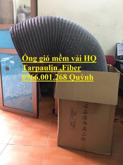 Phân phối ống gió mềm vải Hàn Quốc , Ống thông gió chịu nhiệt phi 100,phi 200,phi 3000