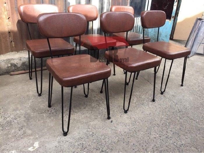Ghế sắt cafe bọc nệm NB cao cấp1