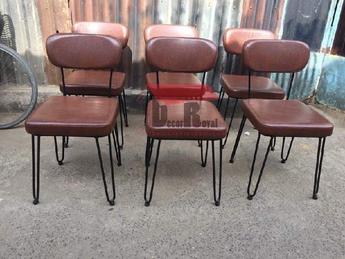 Ghế sắt cafe bọc nệm NB cao cấp2