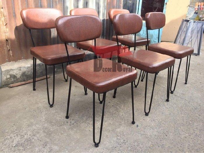 Ghế sắt cafe bọc nệm NB cao cấp3