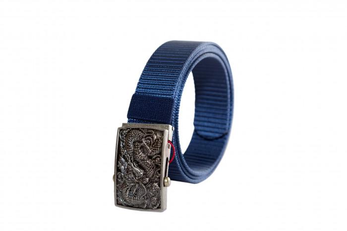 Mua dây nịt vải dù màu xanh cô ban - mặt rồng bạc - SH156 nhà gia công da của các thương hiệu nổi tiếng -  Gọi: 0938 39 59 39 - Ảnh: 10