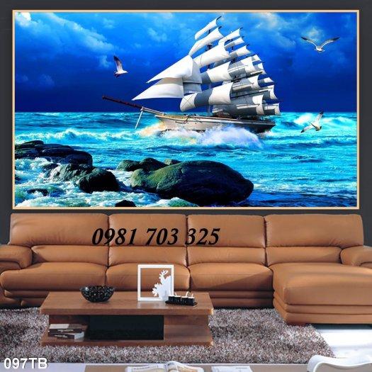 Tranh 3d phong thủy, gạch tranh thuận buồm xuôi gió5