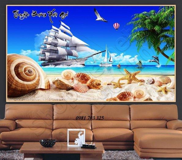 Tranh 3d phong thủy, gạch tranh thuận buồm xuôi gió2
