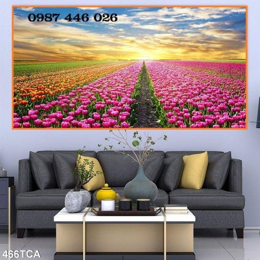 Tranh vườn hoa, gạch tranh ốp tường HP47637