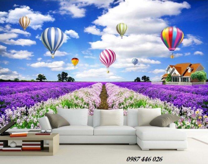 Tranh vườn hoa, gạch tranh ốp tường HP47633