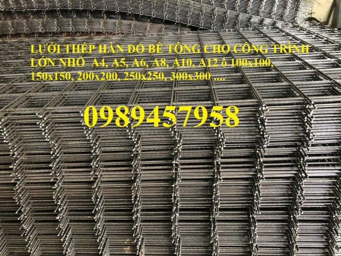 Nhà sản xuất Lưới thép hàn chập phi 6 ô 200x200, D6 200*200, A6 200*2001