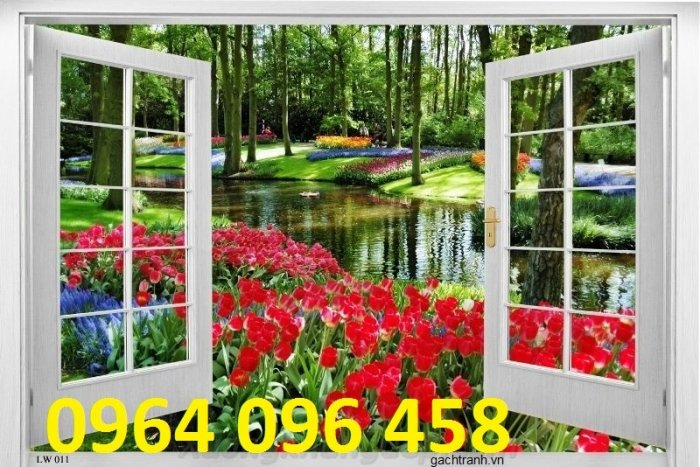 Tranh gạch 3d cửa sổ - XNN67