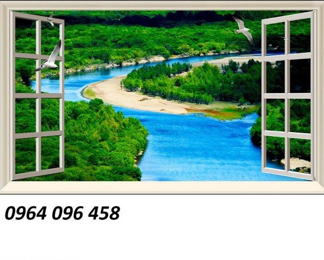 Tranh gạch 3d cửa sổ - XNN62