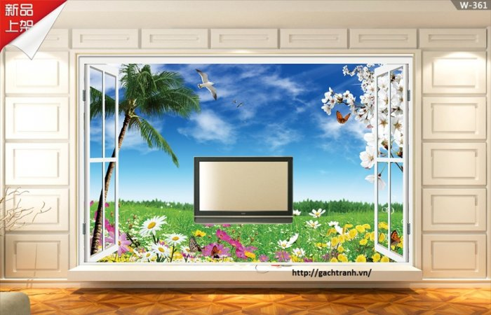 Tranh gạch 3d cửa sổ - XNN61