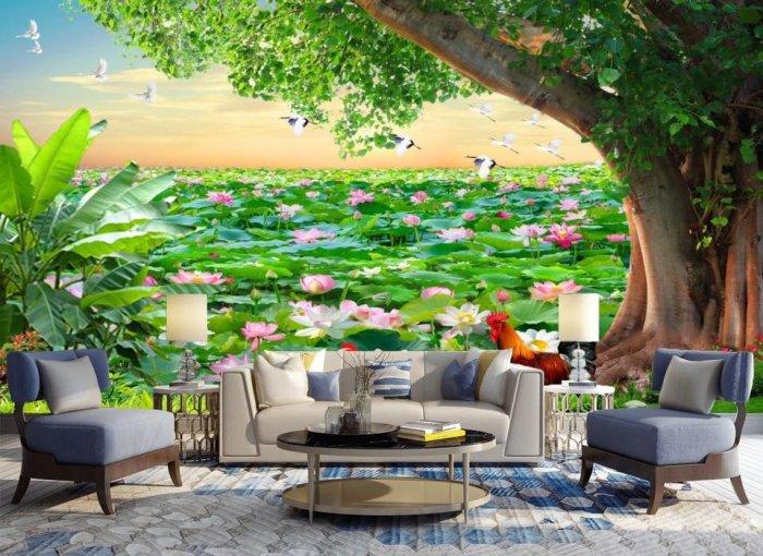 Tranh gạch 3d tranh phong cảnh - KD549