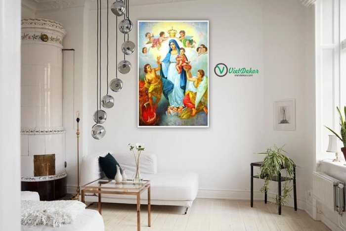 Tranh gạch tranh 3d công giáo phòng khách - KW233