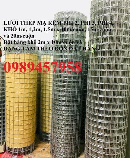 Lưới thép hàn mạ kẽm trang trí, Lưới thép phi 3 ô 25x25, 50x50, 100x100 khổ 1,5m6