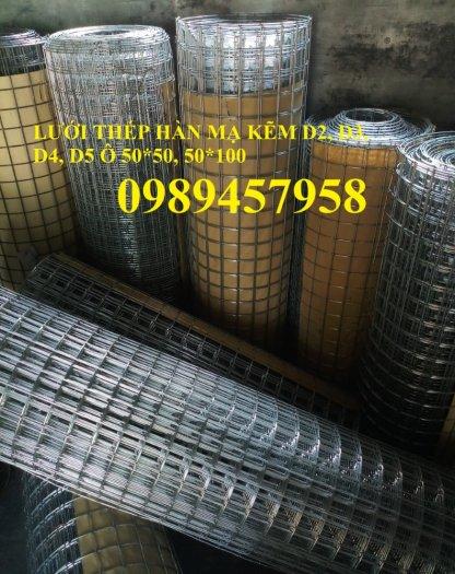 Lưới thép hàn mạ kẽm trang trí, Lưới thép phi 3 ô 25x25, 50x50, 100x100 khổ 1,5m2