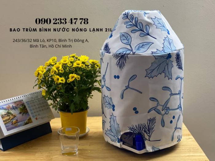 Xưởng May Gia Công Limac Bao trùm bìn nước có vòi 21 lít quảng cáo trang trí  -0902 334 7780
