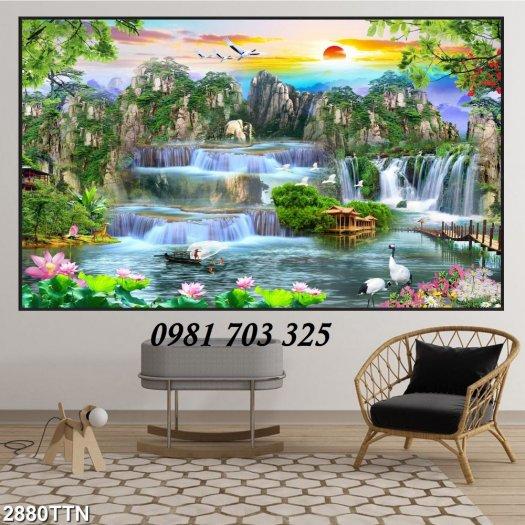 Gạch tranh 3D phong cảnh, tranh gạch trang trí5