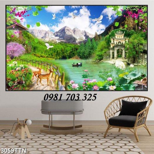 Gạch tranh 3D phong cảnh, tranh gạch trang trí2