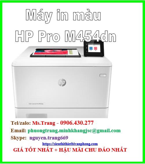 Máy in màu HP Color Laserjet pro m454dn giá siêu cực tốt0