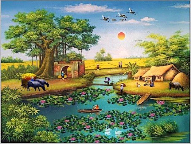 Gạch tranh đồng quê,tranh 3D phong cảnh5