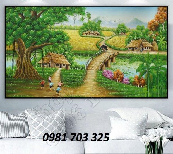 Gạch tranh đồng quê,tranh 3D phong cảnh1