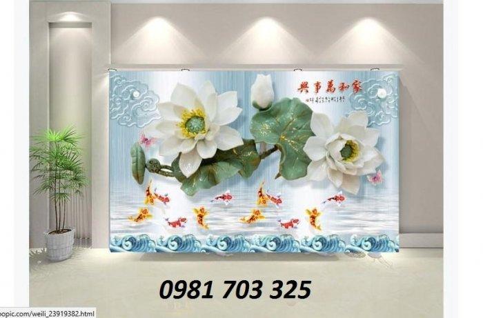 Gạch tranh 3D trang trí, tranh hoa 3D trang trí1