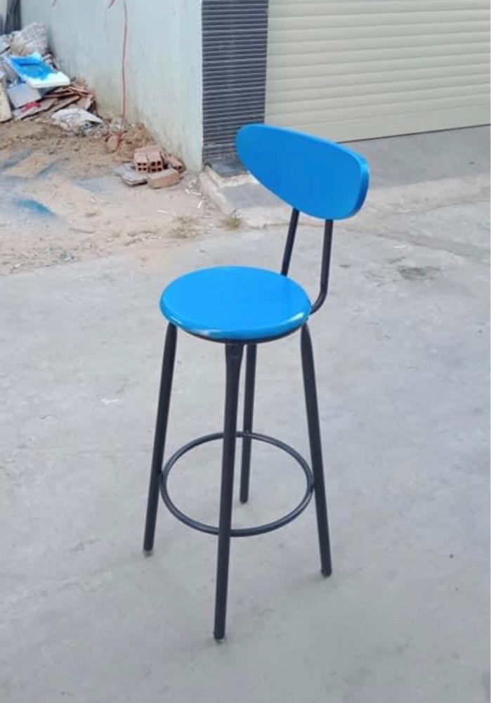 Ghế bar Sơn màu xanh1